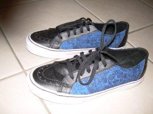 schwarz-blaue Vans Metallica Gr. 41 Special Edition Stoff und Leder