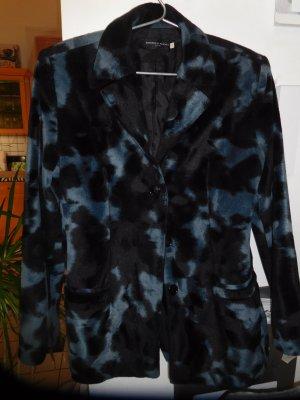 Schwarz-Blauer Tiger-Blazer