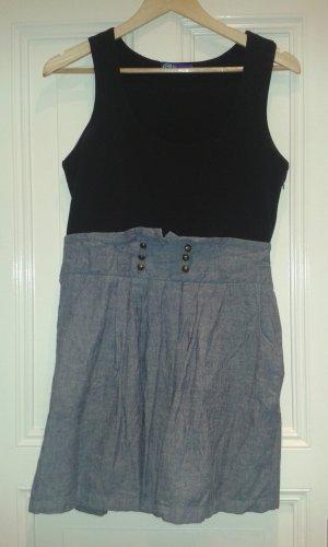 schwarz blaues Kleid mit Jeans von AJC Größe 38
