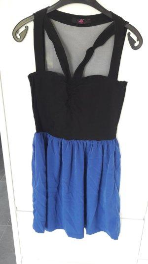 schwarz/blaues Kleid von Ann Christine