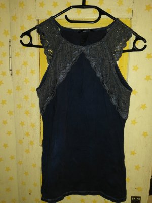 HM Lace Top black-anthracite