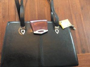 Schwarz / Bordeauxrot Tasche