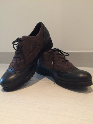 Gabor Wingtip Shoes black-anthracite suede