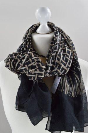 Schwarz braunes Tuch mit Muster