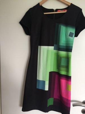 Schwarz buntes Kleid von Desigual