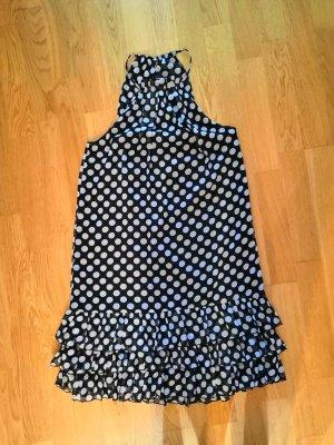 schwarz-creme gepunktetes Kleid von Vero Moda, Größe 38