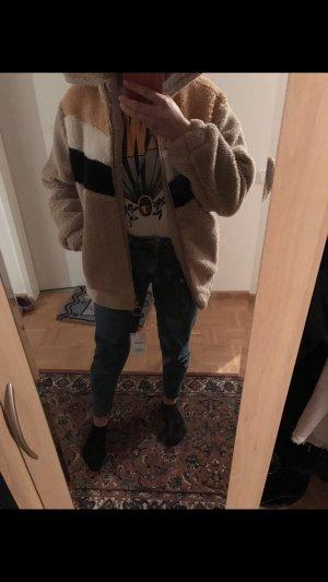 Bershka Fur Jacket multicolored