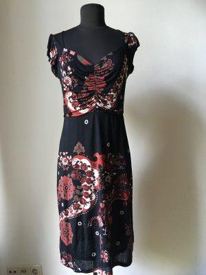 schwarz gemustertes Kleid von Mango Suit