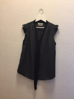 Tie-neck Blouse black-anthracite polyester