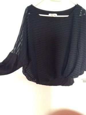 Schwarz gestreifter leichter Pullover in M