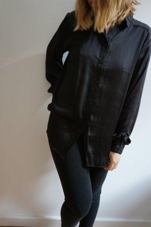 schwarz-glänzende bluse H&M