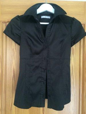 Schwarz-glänzende Bluse von Zara