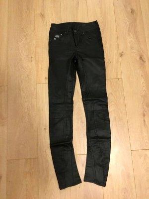 Schwarz glänzende Jeans G-Star Größe 30/34