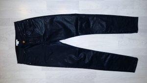 Schwarz glänzende Stretch-Jeans von H&M, super sexy, guter Zustand, Gr. 36