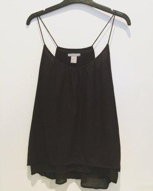 H&M Volanten top zwart-zilver