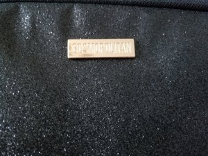 Laptop bag black-gold-colored
