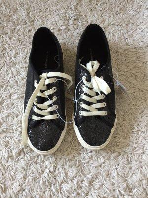 Schwarz-glitzernde Sneaker, Größe 40, neu