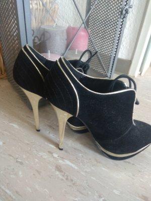Schwarz Gold High Heels
