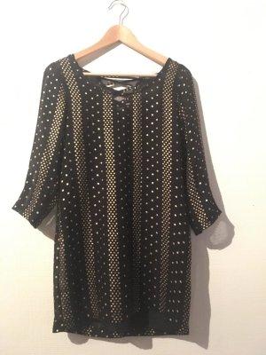 Ecote Top long noir-doré polyester