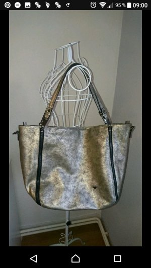 Schwarz goldene Handtasche von Tom Tailor