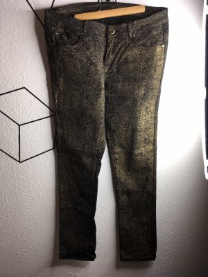 Schwarz goldene Hose