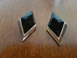 schwarz-goldene Ohrringe