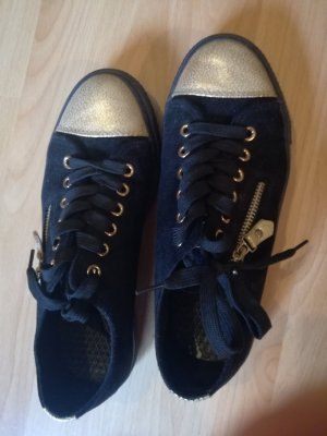 Lace-Up Sneaker black-gold-colored