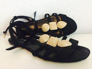 Schwarz-goldene Sandale von Miss KG