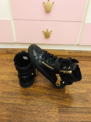 Aldo Slip-on Sneakers black-gold-colored leather