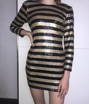 Schwarz goldenes Kleid