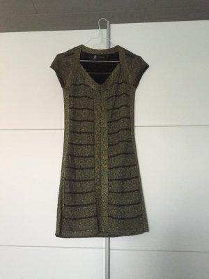 Schwarz/Goldenes Kleid mit Sexy Schnitt