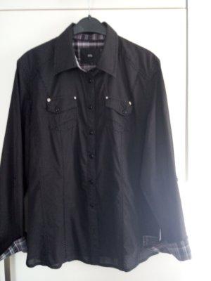 Schwarz-grau gepunktete Bluse von Cecil Gr.L