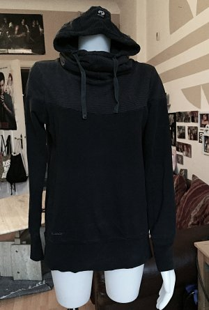Schwarz/ grau gestreifter Ragwear Pullover S/M