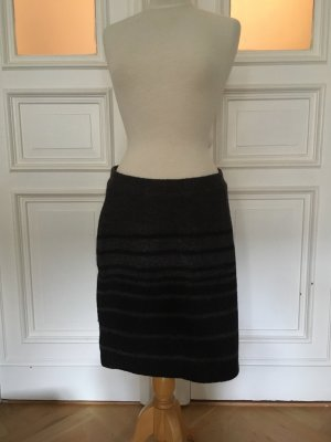 Clements Ribeiro Wool Skirt black-dark grey