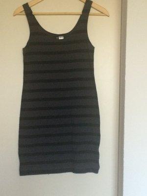 Schwarz/Grau gestreiftes Kleid