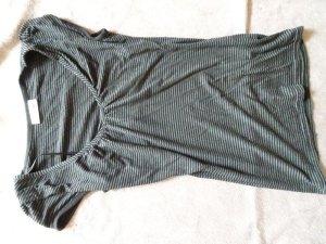 schwarz-grau gestreiftes oberteil von clockhouse in gr.36