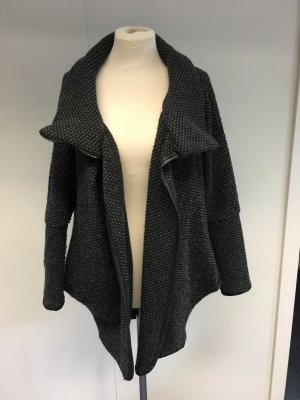 Schwarz-Grau melierter Mantel