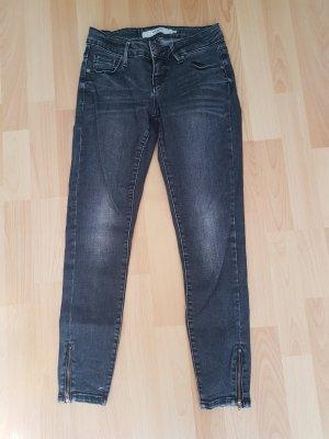 schwarz graue Jeans