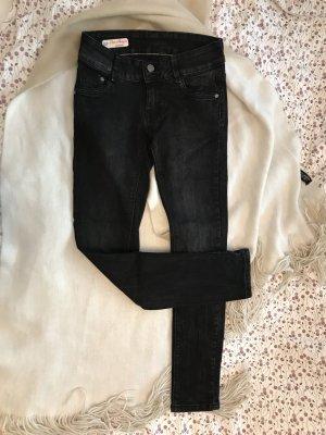 Schwarz graue Jeans mit Waschungen