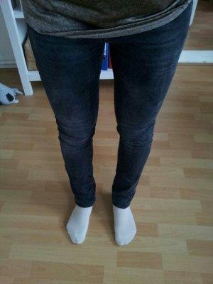 Schwarz graue jeans skinny röhre