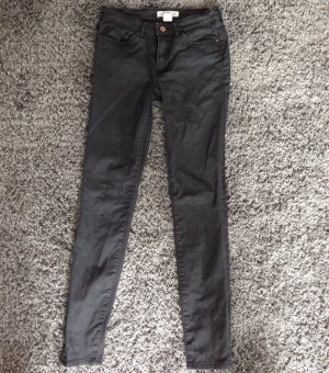 Schwarz graue Skinny Jeans Gr.36