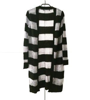 schwarz / graue sommer strickjacke wolljacke / vintage