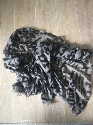 Schwarz grauer Buchstaben Schal