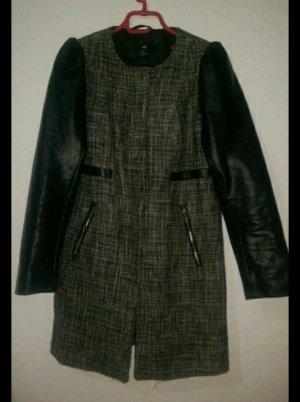Schwarz grauer Mantel Neu