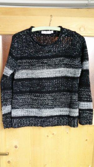 Schwarz / grauer  Pullover