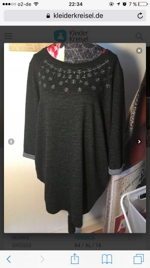 Schwarz Grauer Pullover Neu/ Ungetragen
