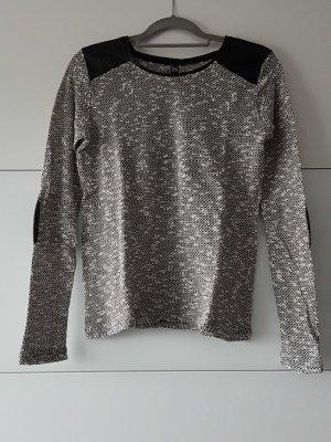 schwarz grauer Strickpulli