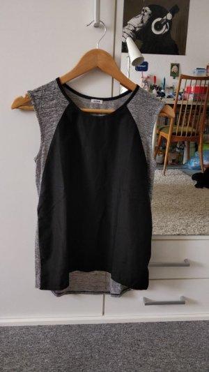 Schwarz-graues Blusen-Shirt