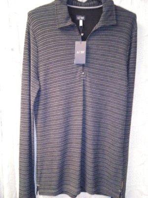 schwarz-graues Poloshirt, NEU, Armani Jeans. Gr.L