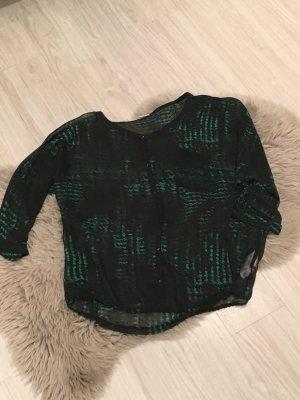 Schwarz Grüne Bluse